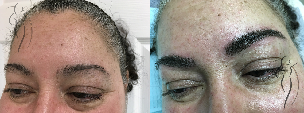 Permanent Brows - Before and After